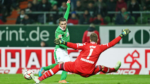 Bremen khó giành trọn 3 điểm dù được thi đấu trên sân nhà