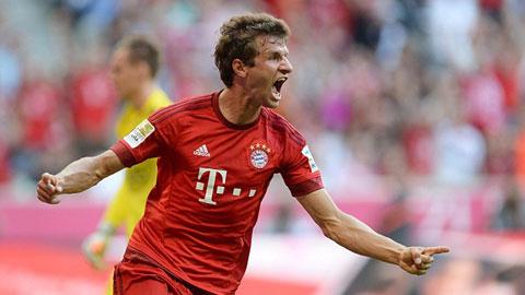 Mueller lập cú đúp trong chiến thắng 3 sao của Bayern
