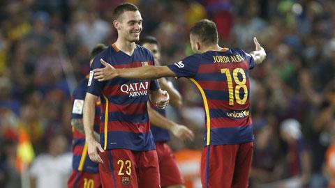 Vermaelen ghi bàn duy nhất giúp Barca giành chiến thắng