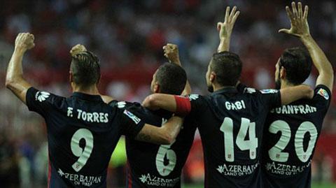 Atletico đã có thắng lợi thuyết phục ngay trên sân Sevilla
