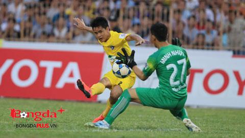 Thi đấu chói sáng ở V-League, Đình Tùng đang hi vọng được gọi lên tuyển. Ảnh: Đức Cường