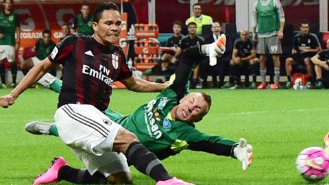Milan (trái) đã thể hiện một bộ mặt bạc nhược trong trận gặp Empoli