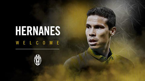 Hernanes là 1 trong 2 tân binh gia nhập Juve vào phút chót