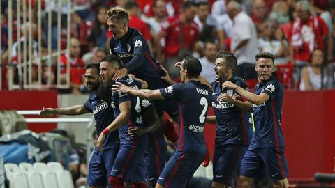Lối chơi công thủ toàn diện giúp Atletico giành chiến thắng ngay trên sân của Sevilla