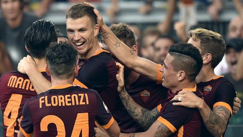 Dzeko góp 1 bàn thắng trong chiến thắng của Roma trước Juventus
