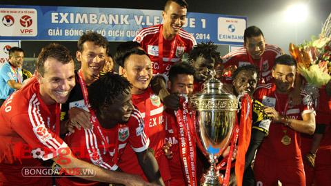 B.Bình Dương là đội sở hữu nhiều danh hiệu vô địch V.League nhất trong lịch sử - Ảnh: Anh Tài