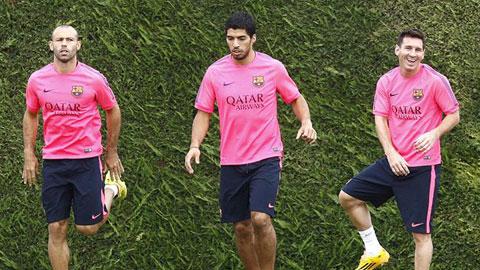 Messi, Suarez và Mascherano đã thi đấu tới gần 1.500 phút từ đầu mùa