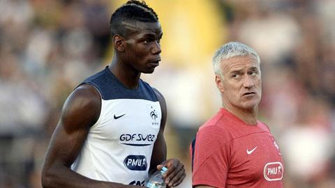 Pogba luôn nhận được sự tin tưởng tuyệt đối của HLV Deschamps