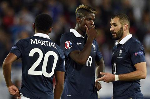 Martial thể hiện khá tốt khi được sát cánh cùng những đàn anh như Pogba hay Benzema