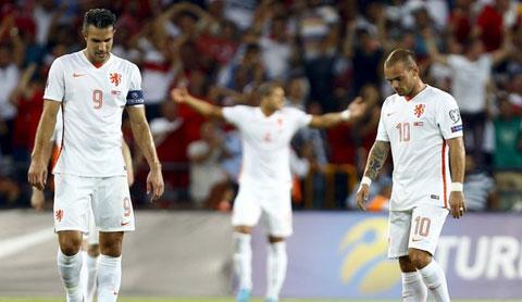 Hà Lan giờ đã tụt xuống vị trí thứ 4 ở bảng A