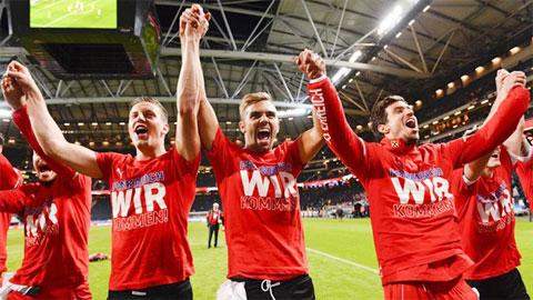 Áo ăn mừng chiến tích lọt vào VCK EURO 2016