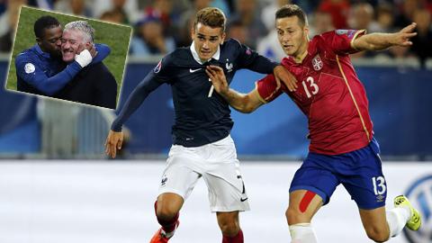 ĐT Pháp (áo sẫm) của HLV Deschamps đang hướng đến VCK EURO 2016 bằng một phong độ ấn tượng
