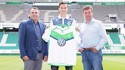 Draxler nhiều khả năng sẽ đá hộ công thay vì bám cánh tại Wolfsburg