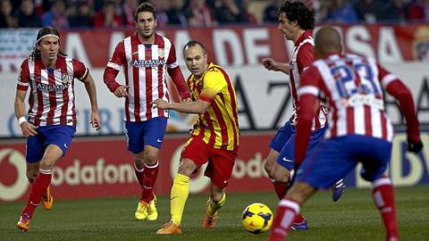 Atletico Madrid đặt nhiều quyết tâm đánh bại Barcelona trên sân nhà