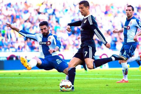 Ronaldo rất có duyên ghi bàn vào lưới Espanyol
