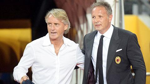 Chủ nhật này, hai người bạn Mancini và Mihajlovic sẽ đối đầu ở derby Milan