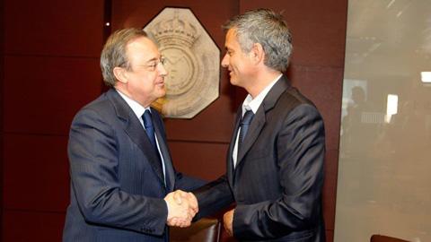 Chủ tịch Perez lúc này không còn duy trì mối quan hệ hữu hảo với HLV Mourinho