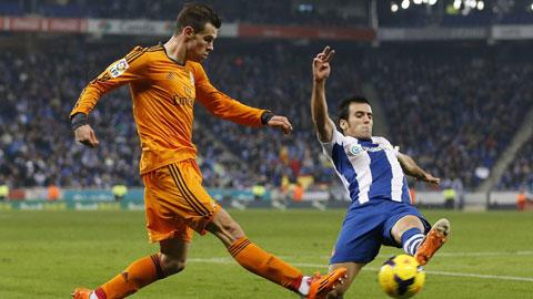 Real (trái) nhiều khả năng vẫn chưa thể tìm lại phong độ sung mãn nhất khi gặp Espanyol