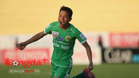 Lê Văn Thắng đã ghi được 16 bàn cho XSKT Cần Thơ mùa này - Ảnh: Anh Tài
