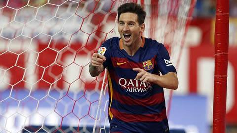 Chỉ 17 phút sau khi vào sân từ ghế dự bị, Messi đã ghi bàn ấn định chiến thắng cho Barca