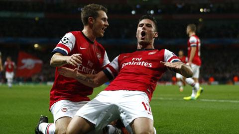 Arsenal sẽ giành chiến thắng trong trận ra quân tại bảng F