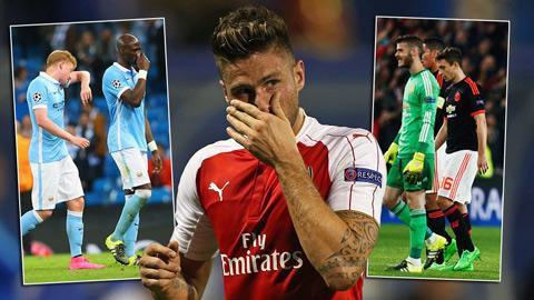 Arsenal, Man City và M.U đều thua ở lượt đầu tiên
