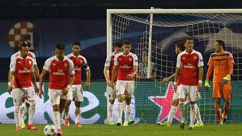 Arsenal gaayy thất vọng khi gục ngã tại Croatia