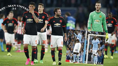 Cả Man United lẫn Man City đều chuốc lấy thất bại trước những đối thủ dưới cơ dù được kỳ vọng nhiều và vào cuộc tự tin