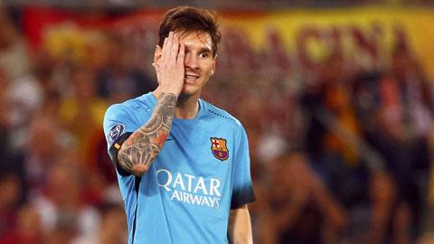 Messi và đồng đội đã không gặp may trong trận đấu với Roma