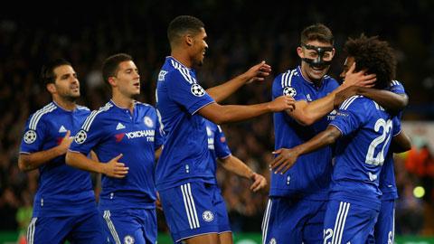 Chelsea ăn mừng chiến thắng