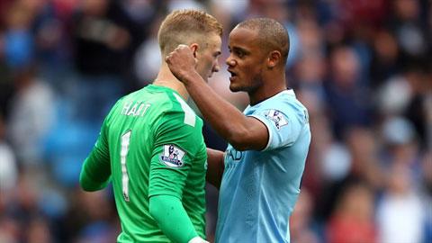Hàng thủ Man City chưa để thủng lưới ở Premier League mùa này