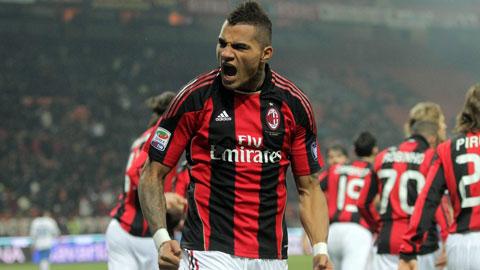 Boateng từng có 3 mùa tươi đẹp khoác áo Milan