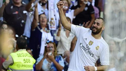 Niềm vui của tiền đạo Benzema sau khi ghi bàn