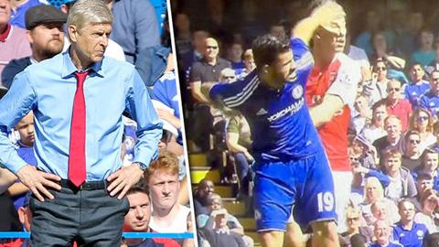 Wenger không hài lòng khi Paulista bị thẻ đỏ