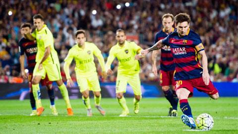 Messi đang gặp khó khăn ở những cú đá 11m