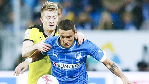 Hoffenheim (phải) sẽ khiến Dortmund lần đầu mất điểm tại Bundesliga mùa này