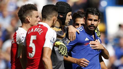 Diego Costa đã bị trừng phạt vì những hành động xấu xí ở trận gặp Arsenal