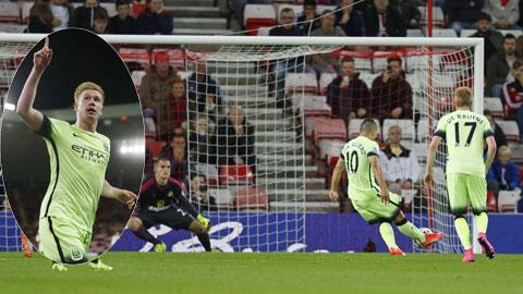 De Bruyne và đồng đội đã có trận đấu tưng bừng trên sân của Sunderland