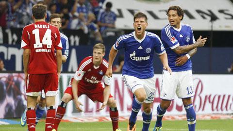 Huntelaar và đồng đội biết cách hạ gục Hamburg để tiếp mạch thăng hoa