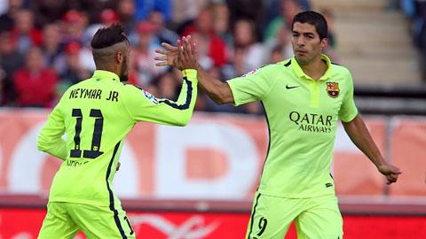 Neymar và Suarez là những đối tác đáng tin cậy trên hàng tấn công của Messi