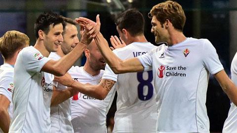 Fiorentina đang có được ngôi vị cao nhất trên BXH Serie A