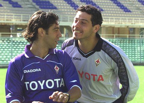 Những ngôi sao như Rui Costa hay Francesco Toldo từng đá cho Fiorentina