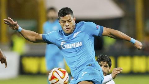 Hulk (trước) sẽ lại ghi bàn để đưa Zenit tới chiến thắng?