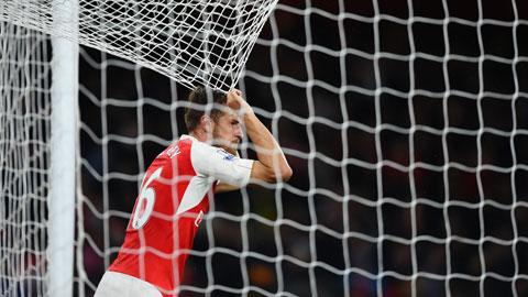 Ramsey chưa có đóng góp gì cho Arsenal ở mùa này