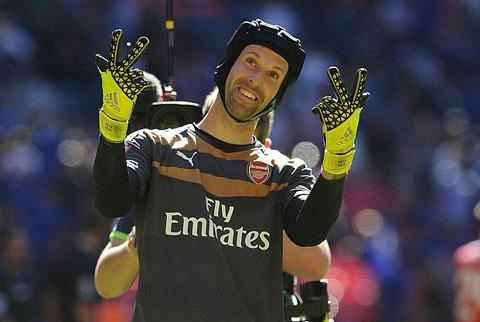 Cech đã có 3 trận giữ sạch lưới cho Arsenal