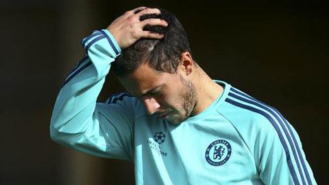 Hazard chỉ được vào sân trong hiệp 2 trận đấu giữa Chelsea và Porto