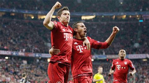 Lewandowski đang là trung tâm lối chơi của Bayern