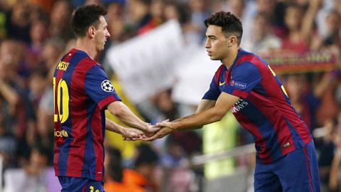 Chấn thương của Messi là cơ hội để những cầu thủ trẻ như Munir (phải) được ra sân