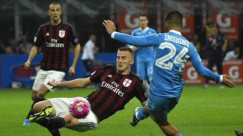Milan tiếp tục thi đấu bết bát ở Serie A