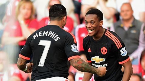 Martial đang gây ấn tượng mạnh ở sân Old Trafford
